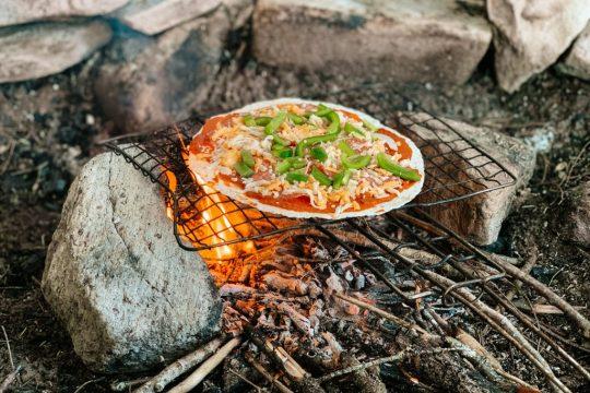 Campfire Bannock Recipes - Pita Pizzas